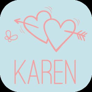 恋活チャットトーク出会系カレン 登録無料ご近所さん探しアプリのロゴ