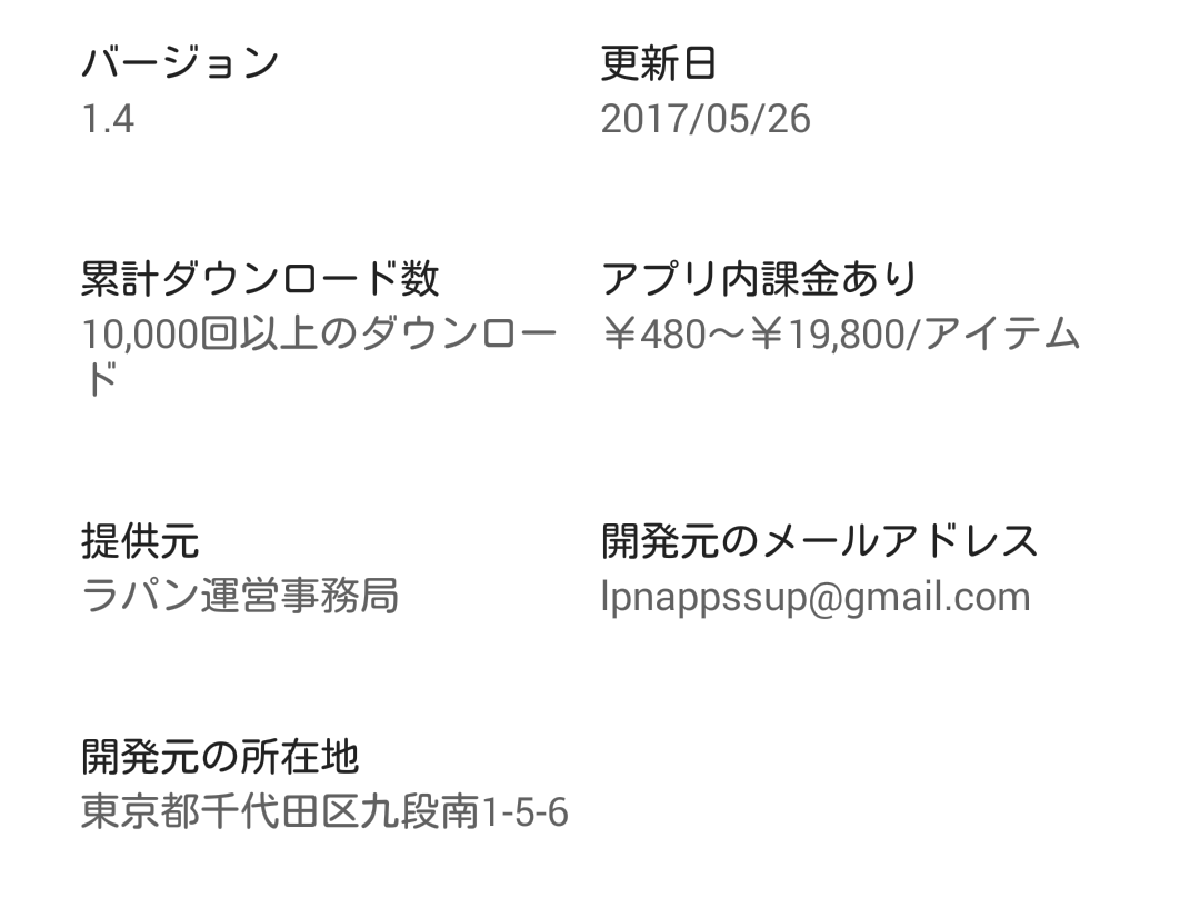 友達探し無料の出会系チャット恋活ラパン ご近所さん探しアプリの運営情報
