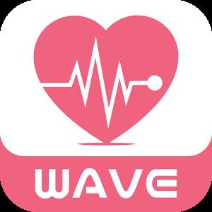 出会いの波に乗ってね-WAVE-友達探しするチャットアプリロゴ