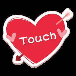 友達探しアプリ無料のタッチ 恋活も出会い系チャットトークでロゴ