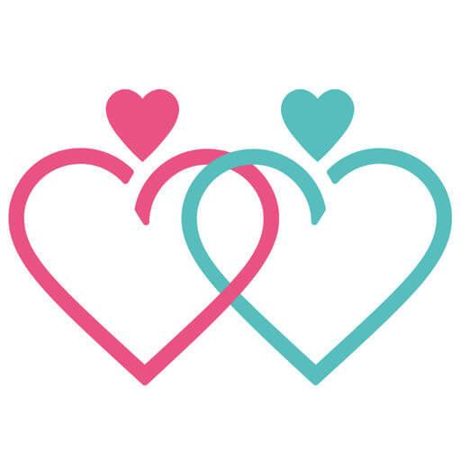 婚活×婚活 出会いや恋活・婚活するマッチングアプリロゴ