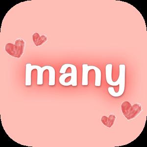 manyで友達の輪を広げよう!人気のマッチングアプリ!ロゴ